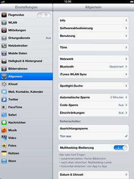 Apple iPad 3 - Ausland - Im Ausland surfen – Datenroaming - Schritt 5