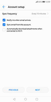 Huawei Mate 10 Pro - E-mail - 032c. Email wizard - Outlook - Step 7