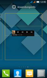 Alcatel One Touch Pop C3 - Startanleitung - installieren von Widgets und Apps auf der Startseite - Schritt 5