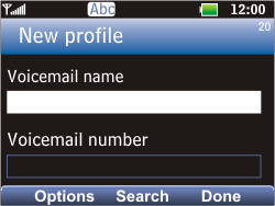 LG C360 Golf - Voicemail - Manual configuration - Step 7