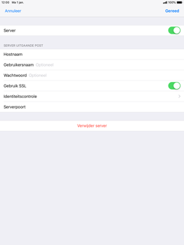 Apple ipad-air-ios-12 - E-mail - Account instellen (POP3 zonder SMTP-verificatie) - Stap 18