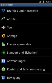 Samsung Galaxy Note - Netzwerk - Netzwerkeinstellungen ändern - 4 / 7