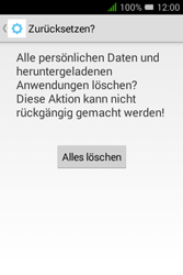 Alcatel Pixi 3 (3.5) - Gerät - Zurücksetzen auf die Werkseinstellungen - Schritt 9