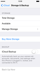 Apple iPhone 5 iOS 7 - Applications - configuring the Apple iCloud Service - Step 10