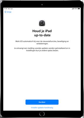 Apple ipad-pro-11-inch-2018-model-a1934 - Instellingen aanpassen - Activeer het toestel en herstel jouw iCloud-data - Stap 23