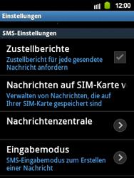 Samsung Galaxy Y - SMS - Manuelle Konfiguration - 0 / 0