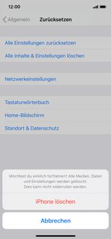 Apple iPhone 11 Pro - iOS 14 - Gerät - Zurücksetzen auf die Werkseinstellungen - Schritt 7