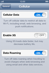 Apple iPhone 4 - Internet and data roaming - Disabling data roaming - Step 5
