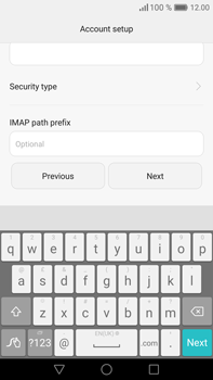 Huawei Mate 8 - Email - Manual configuration IMAP without SMTP verification - Step 12
