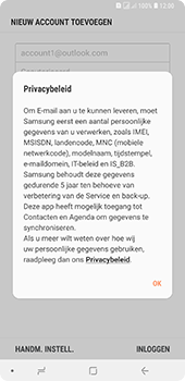 Samsung Galaxy A9 - E-mail - handmatig instellen (outlook) - Stap 10
