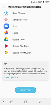 Samsung Galaxy A6 - Toestel reset - terugzetten naar fabrieksinstellingen - Stap 7