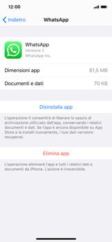 Apple iPhone XS - iOS 13 - Applicazioni - Come disinstallare un