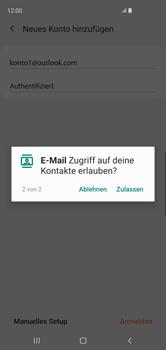 Samsung Galaxy S10 - E-Mail - Konto einrichten (outlook) - 12 / 16