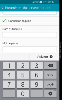 Samsung Galaxy Note Edge - E-mail - configuration manuelle - Étape 13