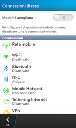 BlackBerry Z10 - Rete - Selezione manuale della rete - Fase 5