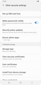 Samsung Galaxy S9 Plus - Android Pie - Getting started - How to enable a SIM pin - Step 6