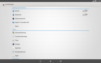 Sony Xperia Tablet Z2 LTE - Bluetooth - Geräte koppeln - 2 / 2