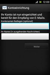 Sony Xperia Miro - E-Mail - Konto einrichten - Schritt 14