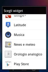 Alcatel OT-983 - Operazioni iniziali - Installazione di widget e applicazioni nella schermata iniziale - Fase 4