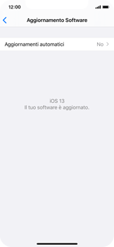 Apple iPhone X - iOS 13 - Software - Installazione degli aggiornamenti software - Fase 6