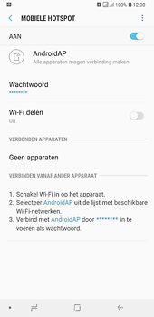 Samsung galaxy-a6-plus-sm-a605fn-ds - WiFi - Mobiele hotspot instellen - Stap 12
