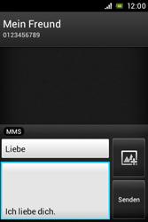 Sony Xperia Miro - MMS - Erstellen und senden - Schritt 14