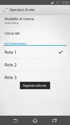 Sony Xperia Z3 Compact - Rete - Selezione manuale della rete - Fase 10