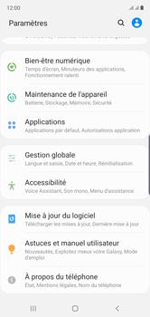 Samsung Galaxy Note 10 - Téléphone mobile - Réinitialisation de la configuration d