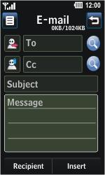 LG GD510 Pop - E-mail - Sending emails - Step 6