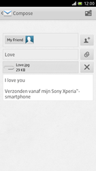 Sony LT28h Xperia ion - E-mail - Sending emails - Step 13