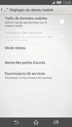 Sony Xperia Z2 - Internet et roaming de données - Comment vérifier que la connexion des données est activée - Étape 6