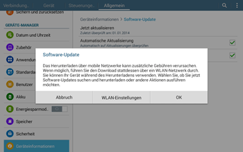 Samsung T535 Galaxy Tab 4 10.1 - Software - Installieren von Software-Updates - Schritt 9