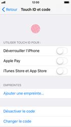 Apple iPhone 5s - iOS 11 - Sécuriser votre mobile - Activer le code de verrouillage - Étape 8