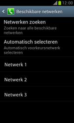 Samsung S7560 Galaxy Trend - Netwerk - Handmatig netwerk selecteren - Stap 11