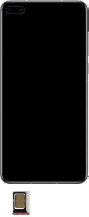 Huawei P40 - Premiers pas - Insérer la carte SIM - Étape 6