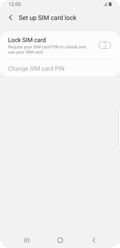 Samsung Galaxy S9 - Android Pie - Getting started - How to enable a SIM pin - Step 7