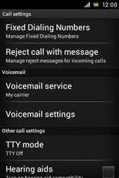 Sony C1505 Xperia E - Voicemail - Manual configuration - Step 5