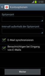 Samsung Galaxy Trend Lite - E-Mail - Manuelle Konfiguration - Schritt 17