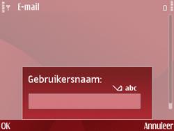 Nokia E63 - E-mail - Handmatig instellen - Stap 13