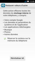 Alcatel One Touch Idol Mini - Téléphone mobile - Réinitialisation de la configuration d