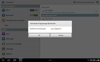 Samsung Galaxy Tab 2 10.1 - Bluetooth - Jumelage d
