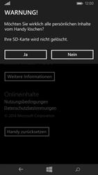 Nokia Lumia 735 - Fehlerbehebung - Handy zurücksetzen - Schritt 9