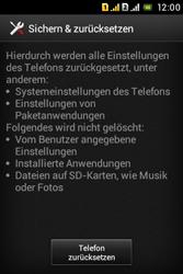 Sony Xperia Tipo Dual - Fehlerbehebung - Handy zurücksetzen - 8 / 11