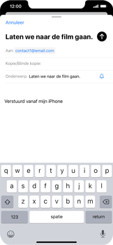 Apple iPhone XS Max - iOS 13 - E-mail - e-mail versturen - Stap 6