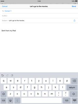 Apple iPad 2 iOS 9 - E-mail - Sending emails - Step 7