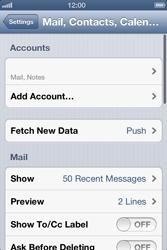 Apple iPhone 4 S - E-mail - Manual configuration - Step 14