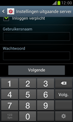 Samsung S7560 Galaxy Trend - E-mail - Handmatig instellen - Stap 14