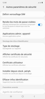 Samsung Galaxy A71 - Sécuriser votre mobile - Personnaliser le code PIN de votre carte SIM - Étape 6