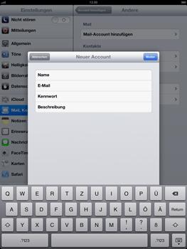 Apple iPad 4 - E-Mail - Konto einrichten - Schritt 9