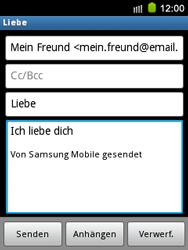 Samsung S5570 Galaxy Mini - E-Mail - E-Mail versenden - Schritt 10
